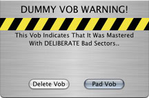 Dummy VOB Warning