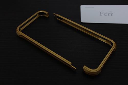 Ferr Aluminum Bumper i501B for iPhone5/5s(Gold)