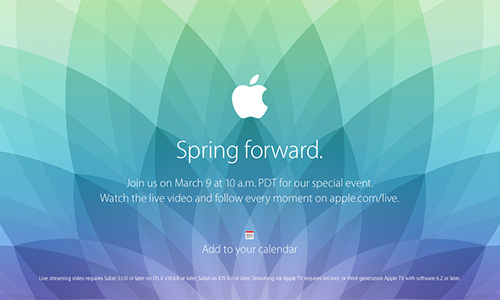 Apple Special Event Spring forward.
