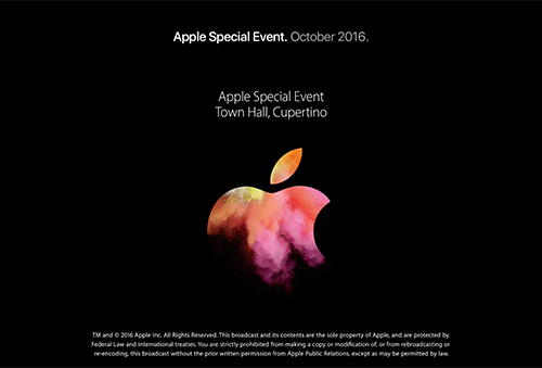 Apple Special Event, October 2016.