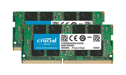 crucial 32GBキット 16GBx2 260-pin SO-DIMM DDR4 2666MHz PC4-21300